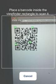 Зіскануйте QR-код в Особистому кабінеті